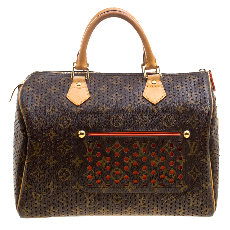 0188912814a9 ... Louis Vuitton Orange Monogram Perforated Canvas Limited Edition Speedy  30 Bag. nextprev. prevnext