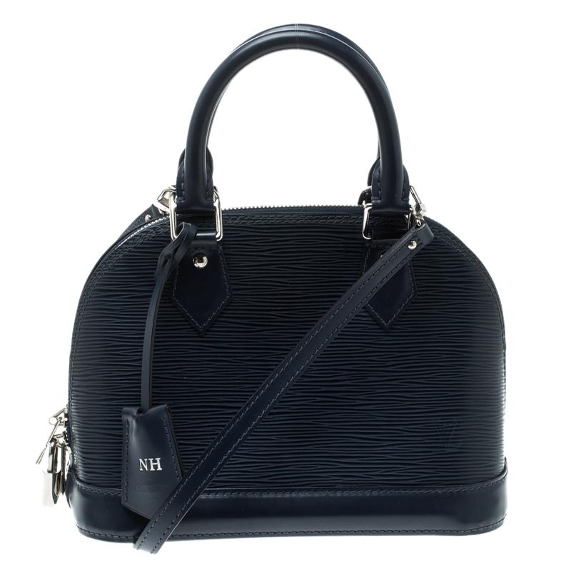 00b1f06087df Buy Louis Vuitton Indigo Epi Leather Alma BB Bag 125705 at best ...