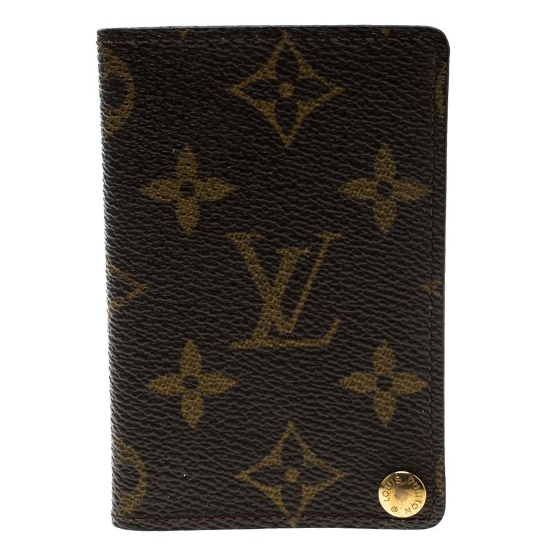 the latest 68598 5ed40 Louis Vuitton Monogram Canvas Pression Card Holder