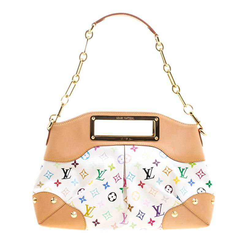 91023dbb0648 ... Louis Vuitton White Multicolor Monogram Canvas Judy MM Bag. nextprev.  prevnext