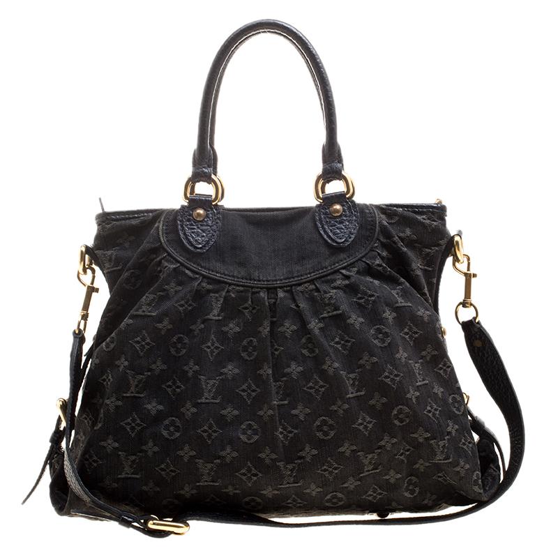 20856d23a80 ... Louis Vuitton Black Monogram Denim Neo Cabby GM Bag. nextprev. prevnext