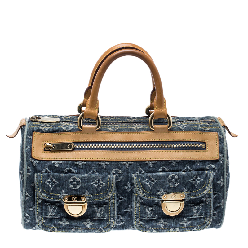 Louis Vuitton Denim Bag >> Buy Louis Vuitton Blue Monogram Denim Neo Speedy Bag 126800 At Best