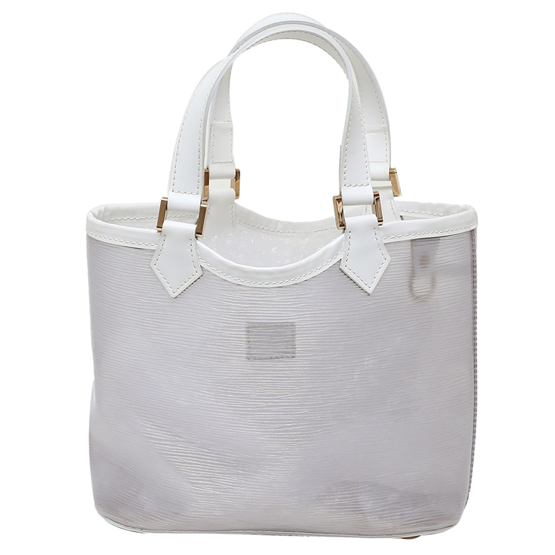 ... Louis Vuitton White Vinyl Epi Plage Leather Mini Lagoon Bay Bag.  nextprev. prevnext fba5cfe52e439