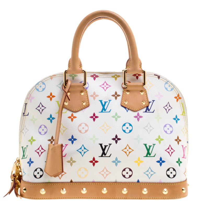 79b911411c75 Buy Louis Vuitton White Multicolor Monogram Canvas Alma PM Bag ...
