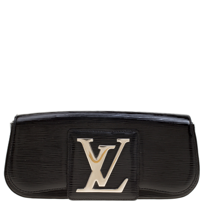 d2a6cb40689e ... Louis Vuitton Black Electric Epi Leather Sobe Clutch. nextprev. prevnext
