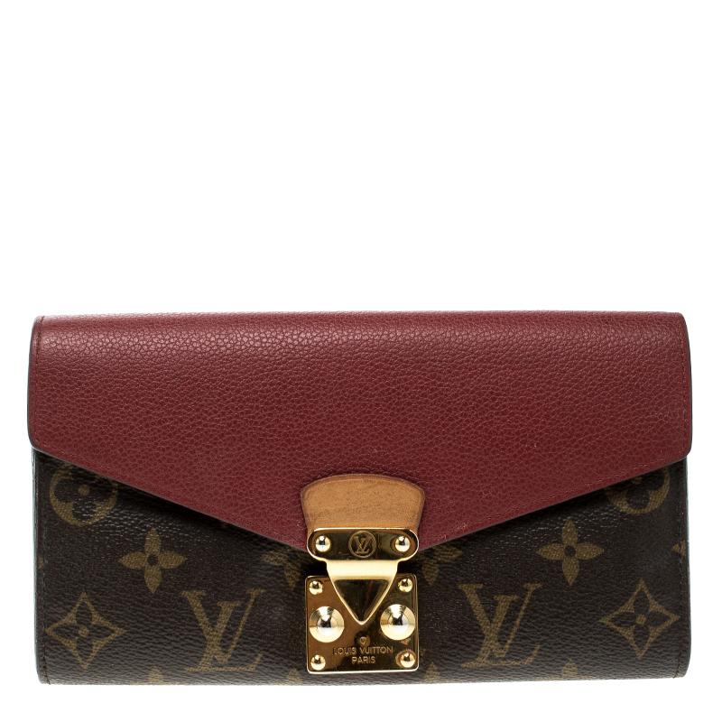 f6bf0419251 Buy Louis Vuitton Red Monogram Canvas Pallas Wallet 132102 at best ...
