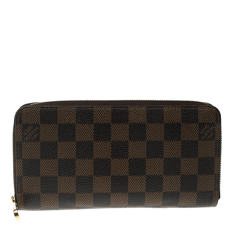 6745374fdb54 Buy Louis Vuitton Damier Ebene Canvas Zippy Wallet 135263 at best ...