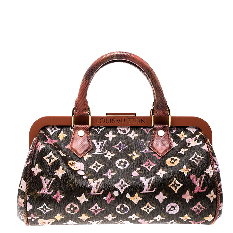 acb44b851d83 ... Louis Vuitton Limited Edition Richard Prince Monogram Watercolor  Aquarelle Papillon Frame Bag. nextprev. prevnext
