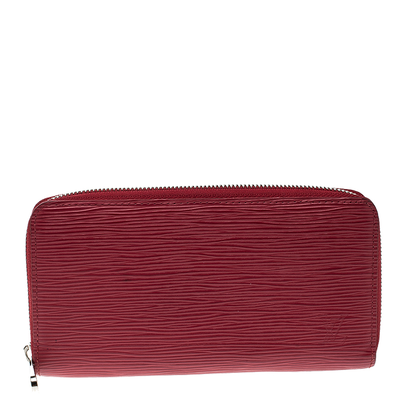 07b3f215657d Buy Louis Vuitton Red Epi Leather Zippy Wallet 137998 at best price ...