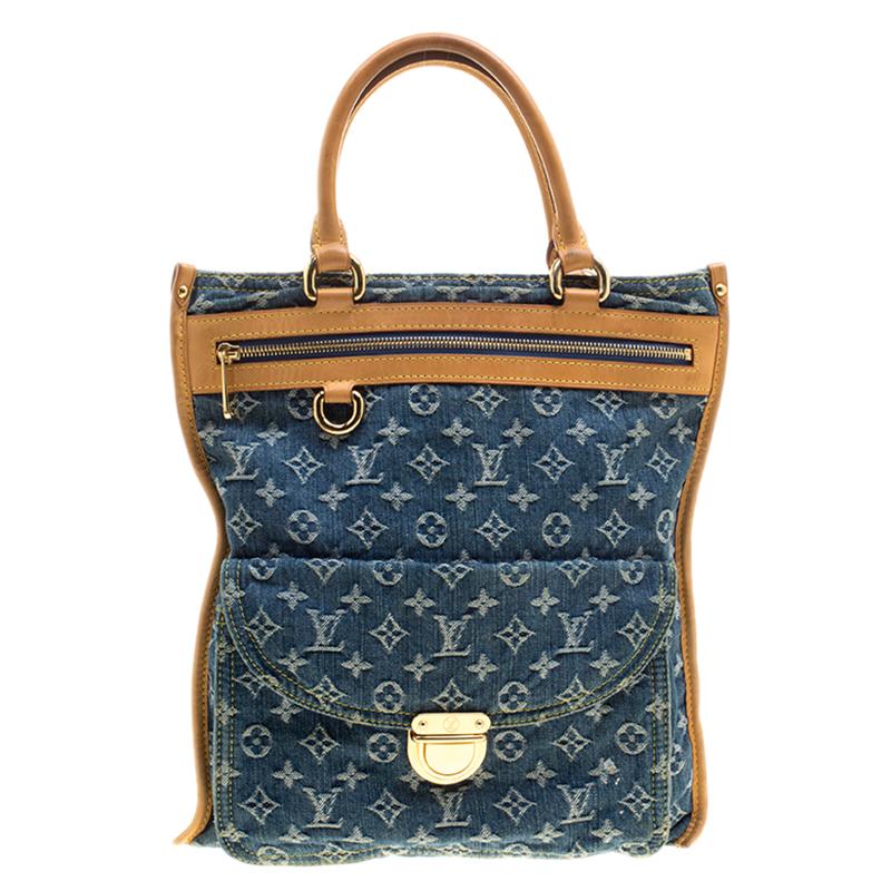 c297dd388955 ... Louis Vuitton Blue Monogram Denim Sac Plat Bag. nextprev. prevnext