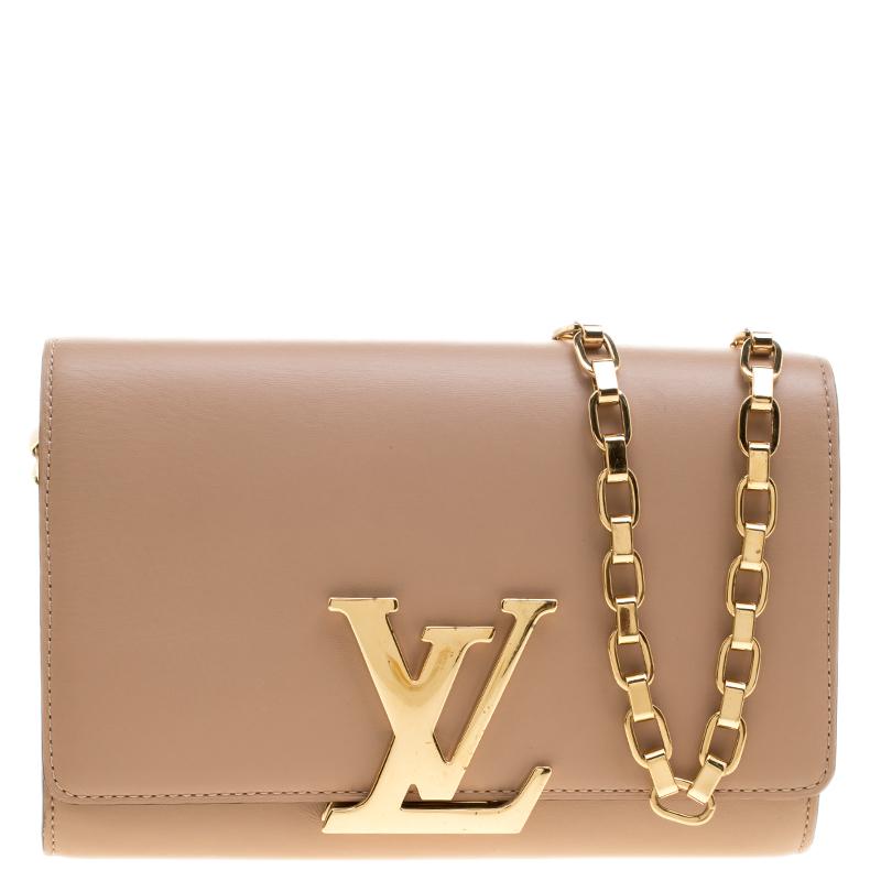 e4a8cc8da177 ... Louis Vuitton Beige Leather Chain Louise GM Bag. nextprev. prevnext