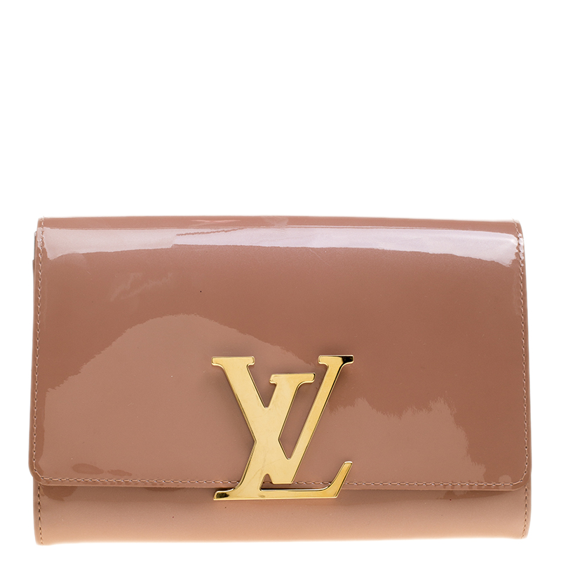 e8fd3c71a26dd Buy Louis Vuitton Rose Velours Patent Leather Louise Clutch 139493 ...