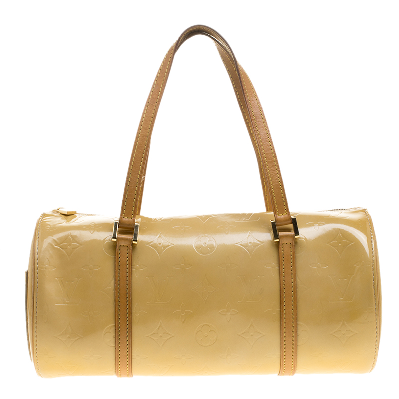 Buy Louis Vuitton Beige Monogram Vernis Bedford Bag 140422 at best ... c5cd972bee730