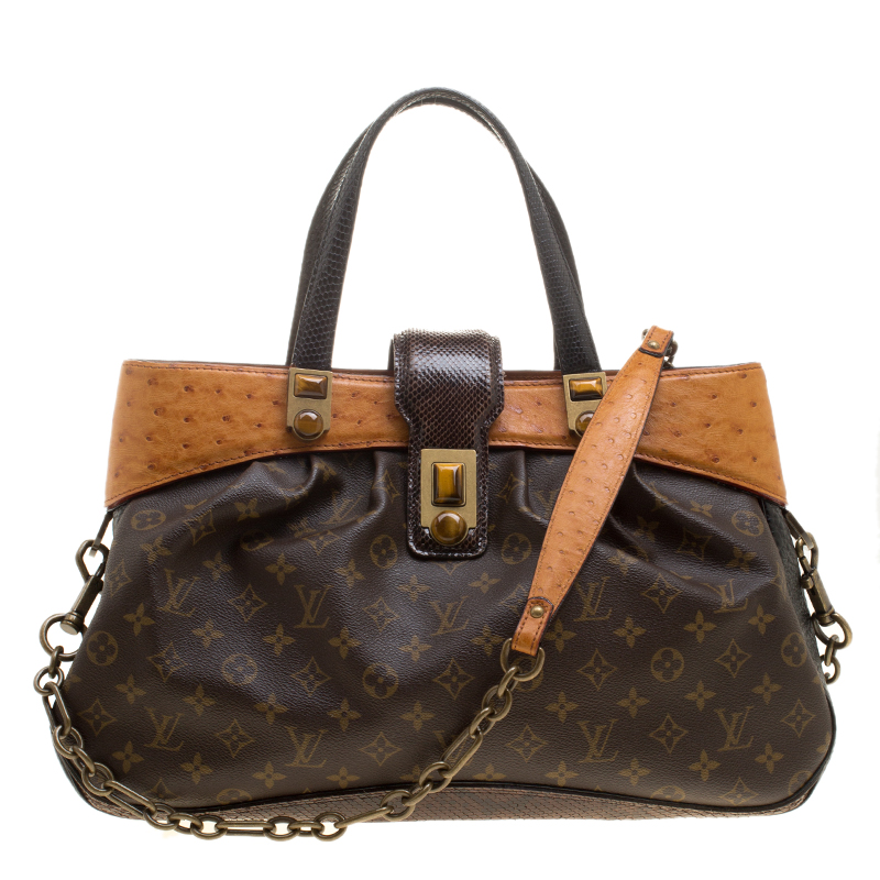 ... Louis Vuitton Monogram Canvas and Leather with Snakeskin and Ostrich  Trim Limited Edition Oskar Waltz Bag. nextprev. prevnext 1b901e7320e15