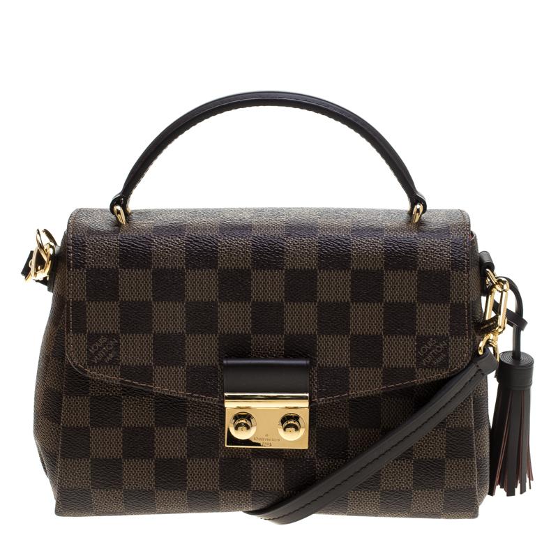 5d1f3e8fa2d2 Buy Louis Vuitton Damier Ebene Canvas Croisette Bag 144581 at best ...