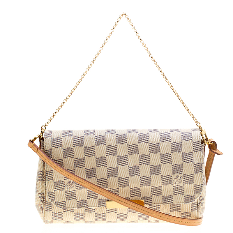 29750260982f ... Louis Vuitton Damier Azur Monogram Canvas Favorite MM Crossbody Bag.  nextprev. prevnext