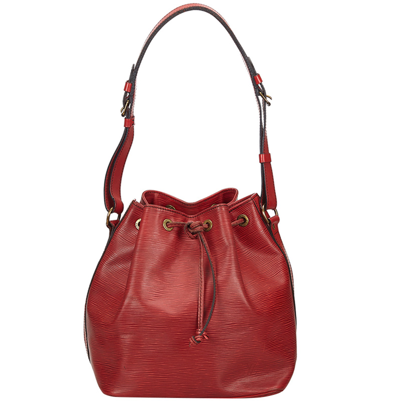 Louis Vuitton Red Epi Leather Noe Bag