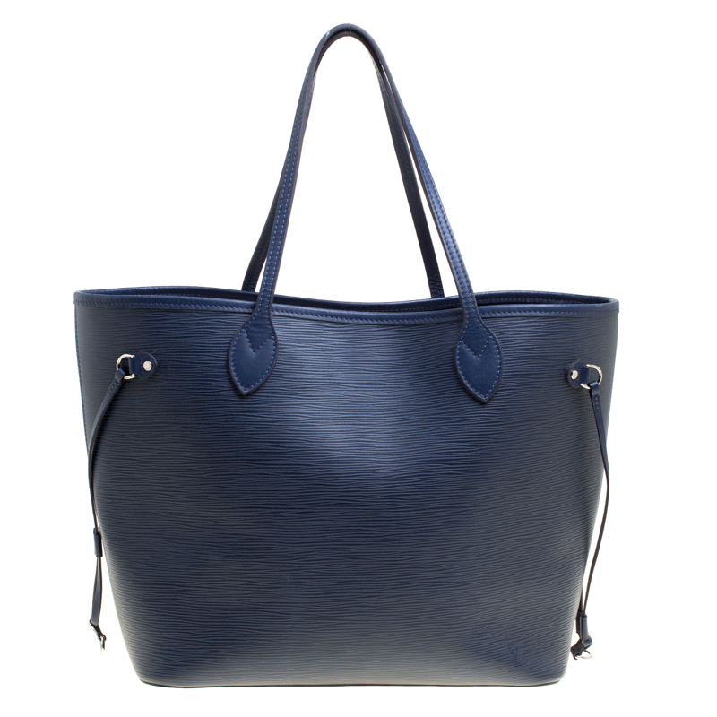 6d5185bc9468 ... Louis Vuitton Blue Marine Epi Leather Neverfull MM Bag. nextprev.  prevnext