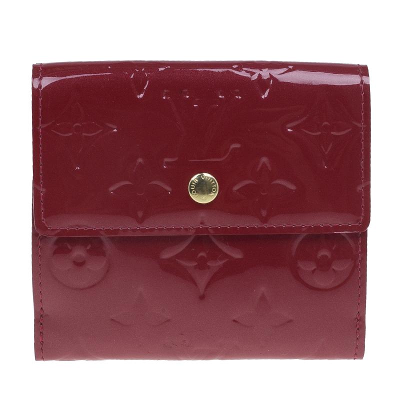 Louis Vuitton Red Monogram Vernis Ludlow Wallet