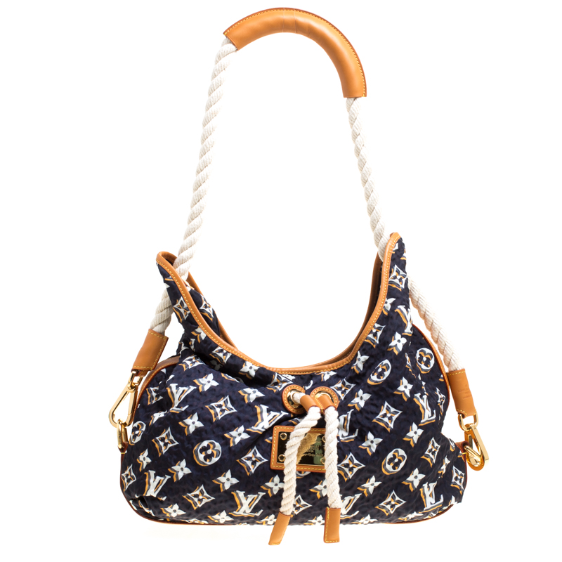Купить со скидкой Louis Vuitton Navy Blue Monogram Limited Edition Bulles MM Bag