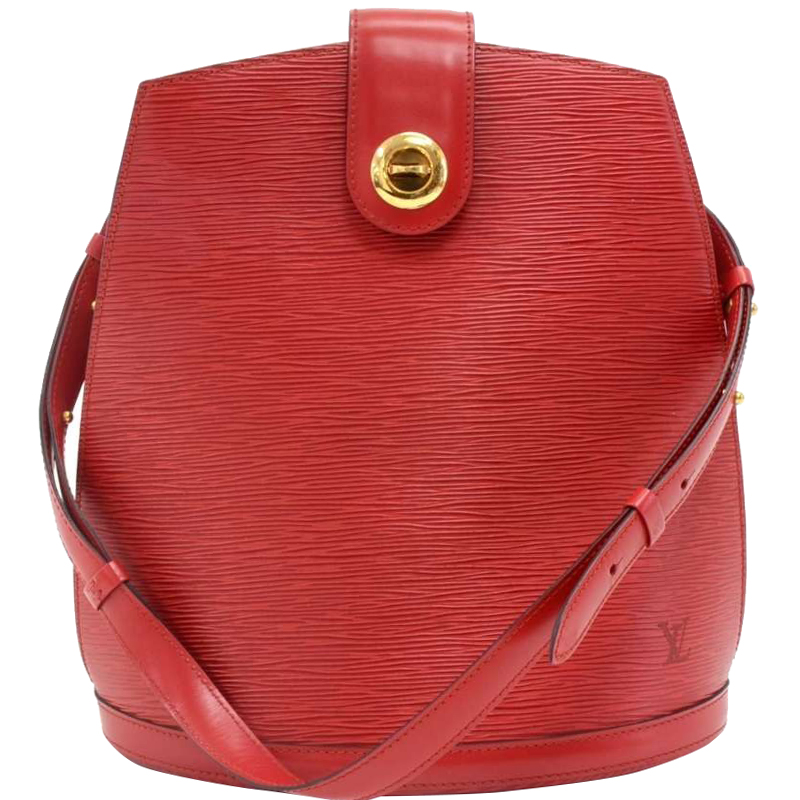 9a708d6b410d Buy Louis Vuitton Red Epi Leather Cluny Bag 148531 at best price