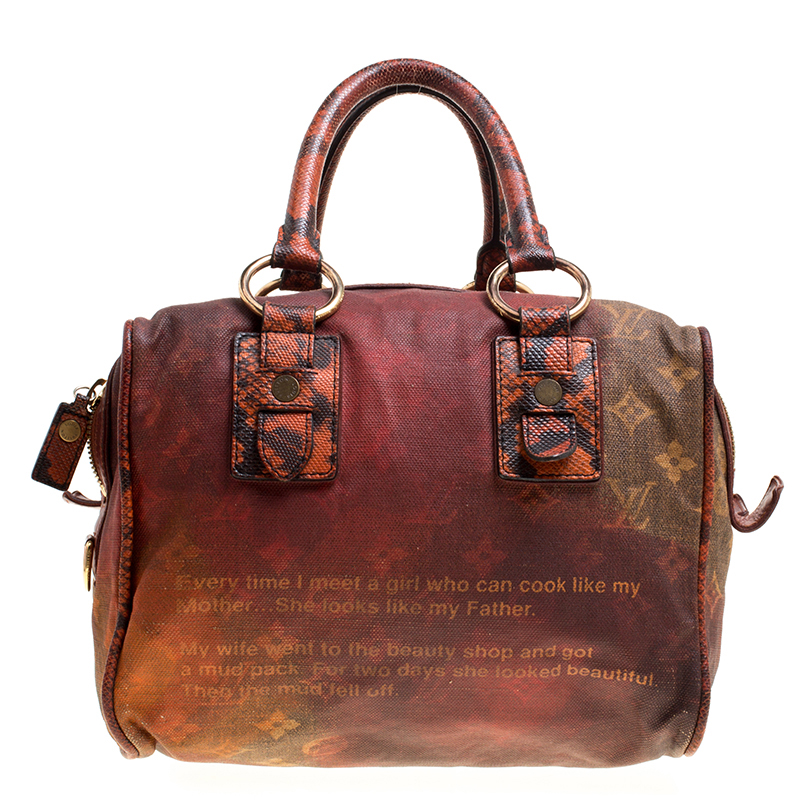 8853758205e90 Buy Louis Vuitton Red Brown Ombre Monogram Canvas and Lizard Limited ...