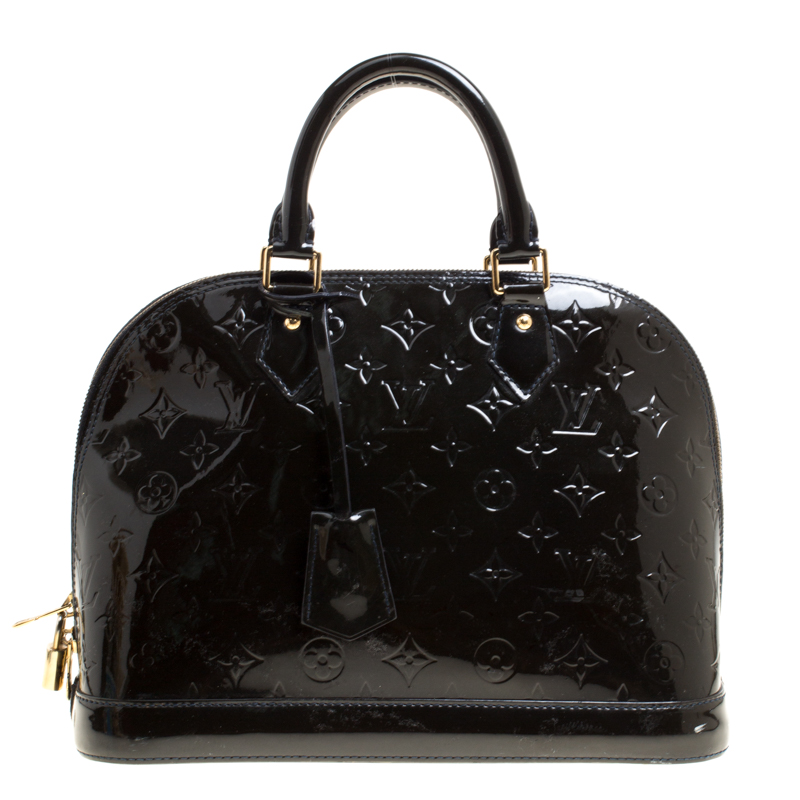 3860df56d54 ... Louis Vuitton Black Monogram Vernis Alma PM Bag. nextprev. prevnext