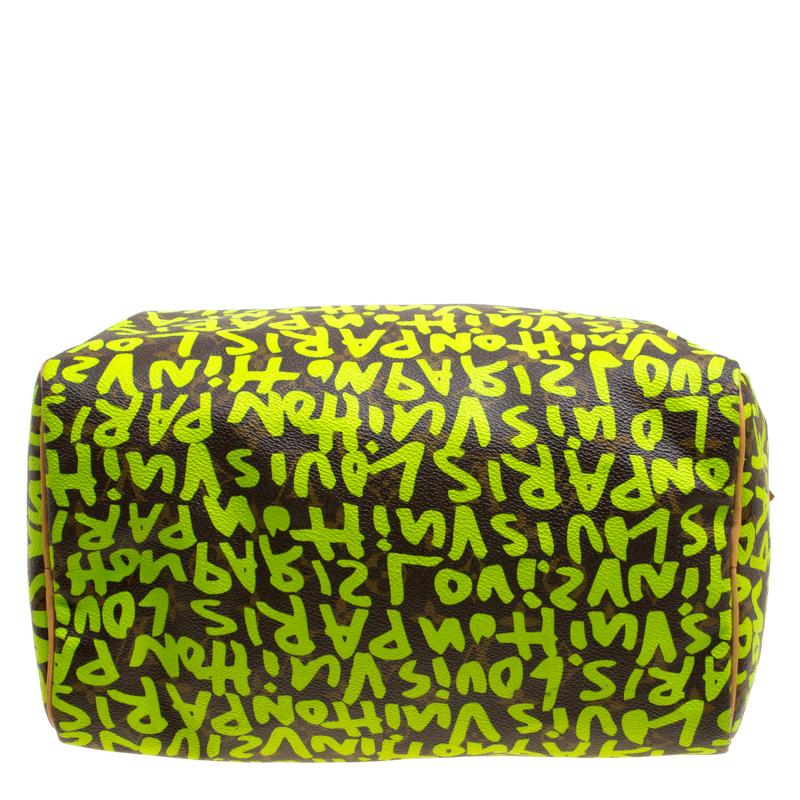 Swell Louis Vuitton Monogram Canvas Neon Green Graffiti Stephen Sprouse Speedy 30 Bag With Charm Machost Co Dining Chair Design Ideas Machostcouk