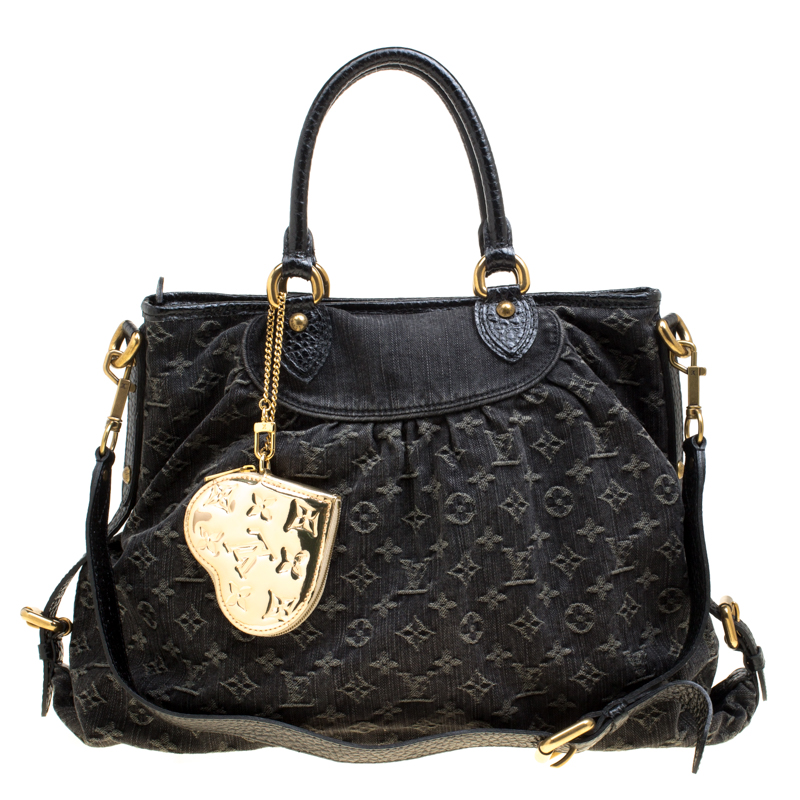 3dcbf525b9cd ... Louis Vuitton Black Monogram Denim Neo Cabby GM Bag with Charm.  nextprev. prevnext