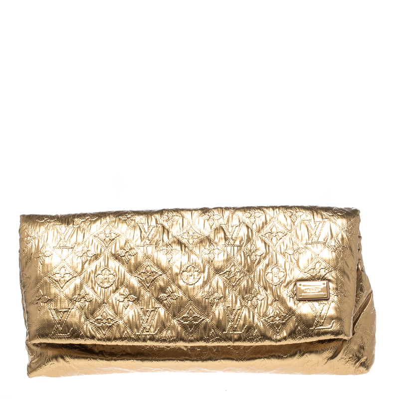 576a72b33d5a ... Louis Vuitton Gold Saumon Monogram Limelight MM Clutch. nextprev.  prevnext