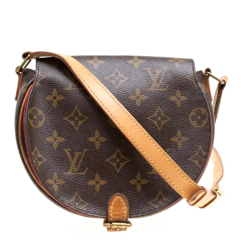 Buy Louis Vuitton Monogram Canvas Tambourine Crossbody Bag 152081 at ... 5d96e8bebaa47
