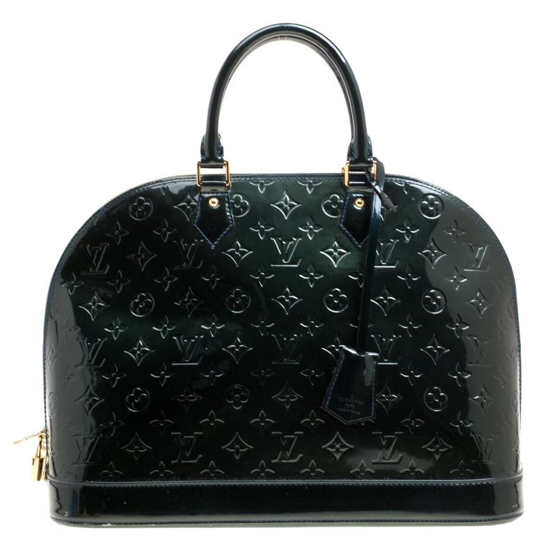 Louis Vuitton Green Monogram Vernis Alma GM Bag