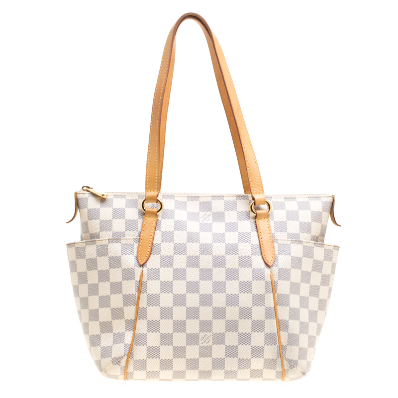 Louis Vuitton Damier Azur Canvas and Leather Totally PM Bag