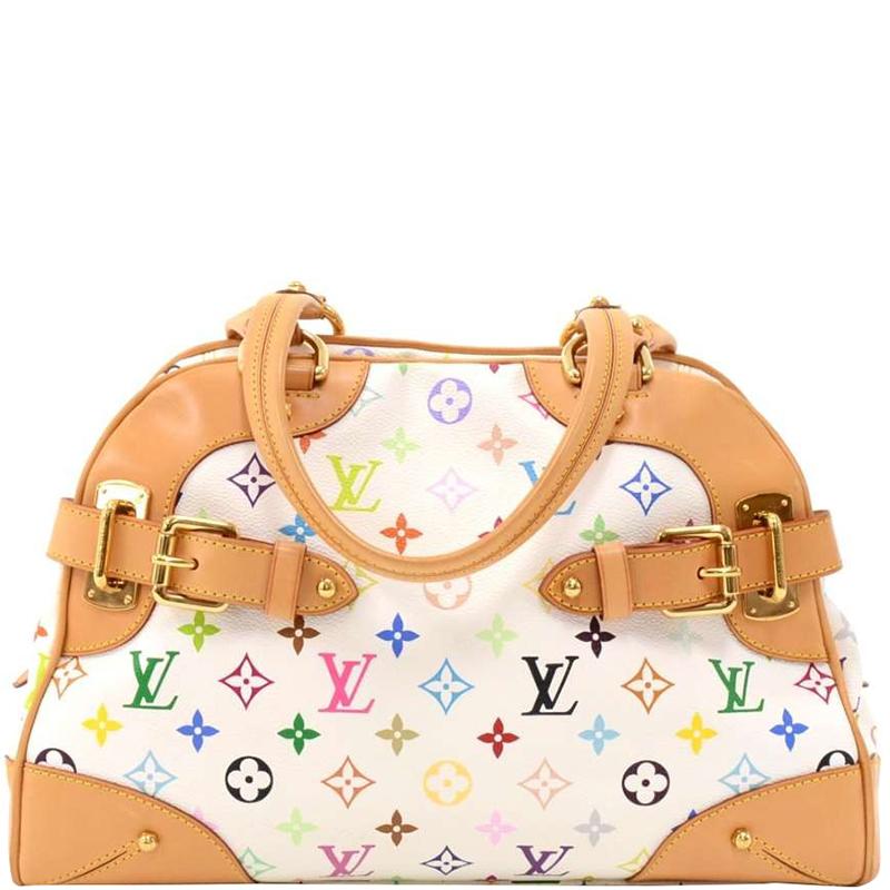 47aed566f5ef ... Louis Vuitton White Monogram Multicolore Claudia Bag. nextprev. prevnext
