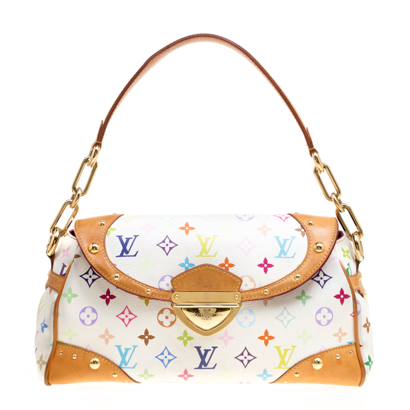 00c8fb0a24a6 ... Louis Vuitton White Multicolor Monogram Canvas Beverly Bag. nextprev.  prevnext