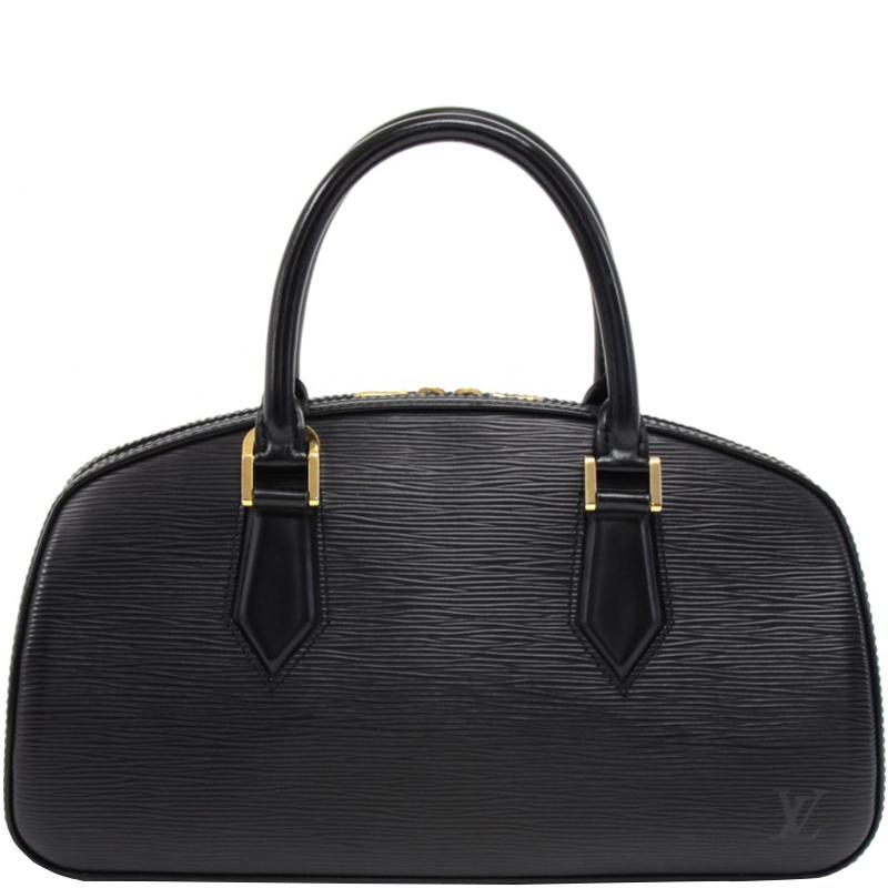 Купить со скидкой Louis Vuitton Black Epi Leather Jasmin Bag