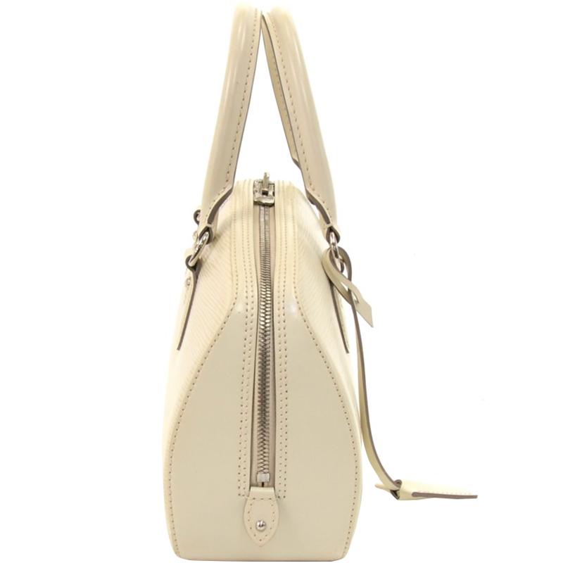 Купить со скидкой Louis Vuitton White Epi Leather Jasmin Bag