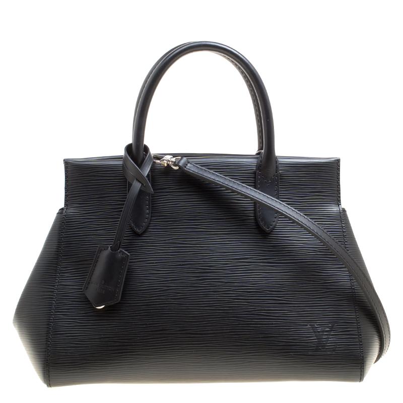 Купить со скидкой Louis Vuitton Black Epi Leather Marly BB Bag
