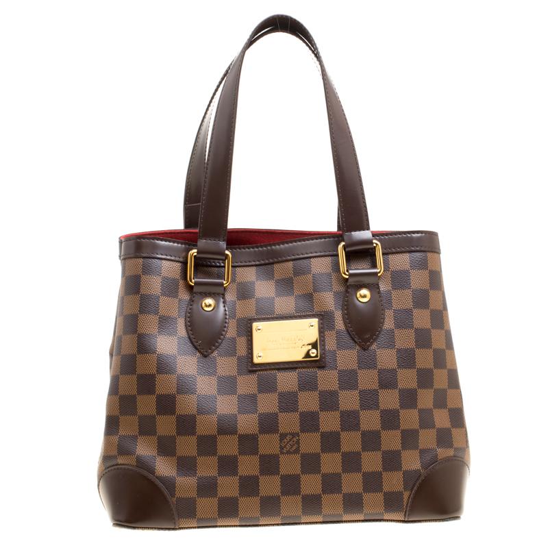 ... Louis Vuitton Damier Ebene Canvas and Leather Hampstead PM Bag.  nextprev. prevnext fb663e9ac39d2