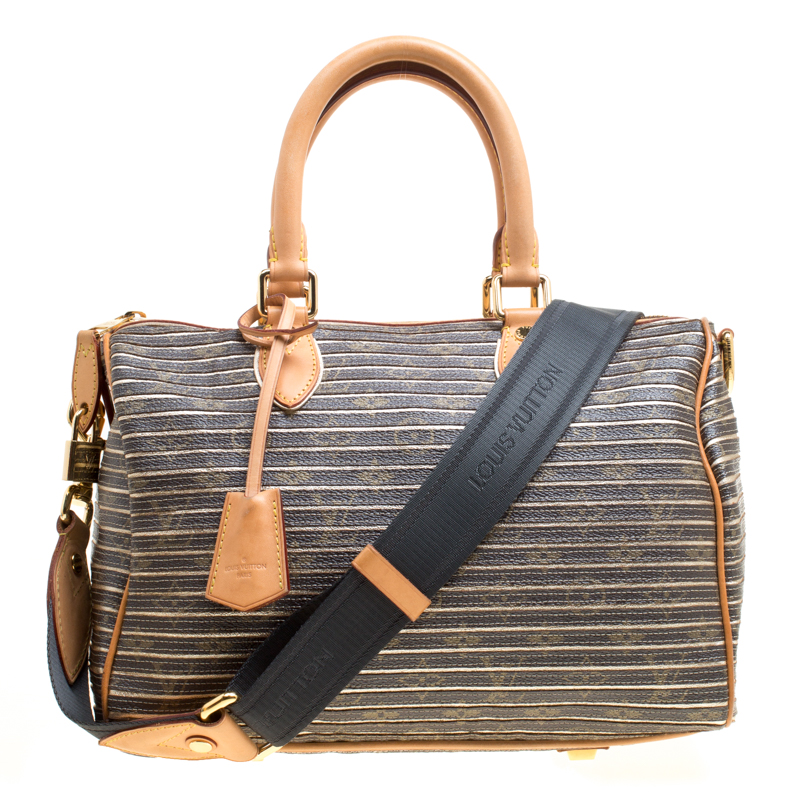 78d1480aa2 Louis Vuitton Argent Monogram Canvas and Leather Limited Edition Eden  Speedy 30 Bag