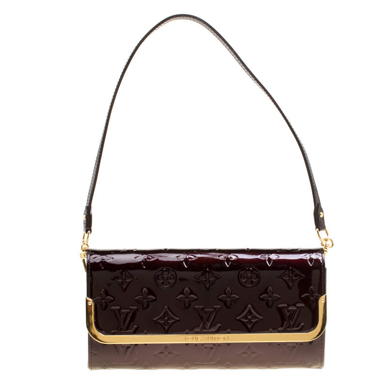 9bbc2190a1da ... Louis Vuitton Amarante Monogram Vernis Rossmore MM Clutch Bag. nextprev.  prevnext