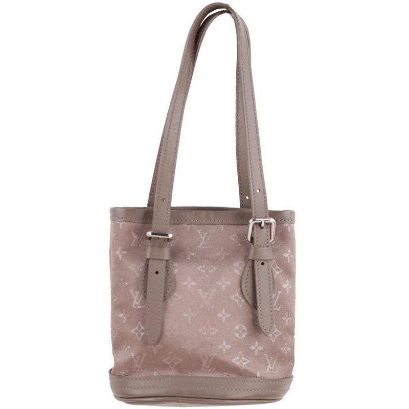 0e411b3355f2 ... Louis Vuitton Taupe Monogram Satin Micro Mini Bucket Bag. nextprev.  prevnext