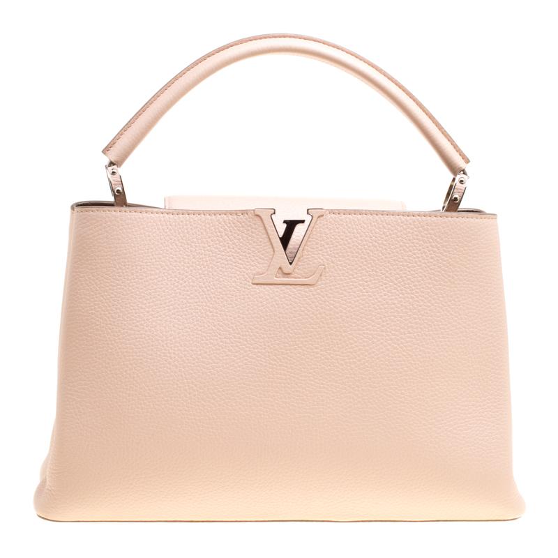 3577e4c8 Louis Vuitton Galet Taurillon Leather Capucines MM Bag