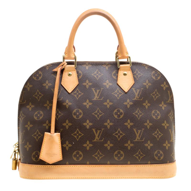 Купить со скидкой Louis Vuitton Monogram Canvas and Leather Alma PM Bag