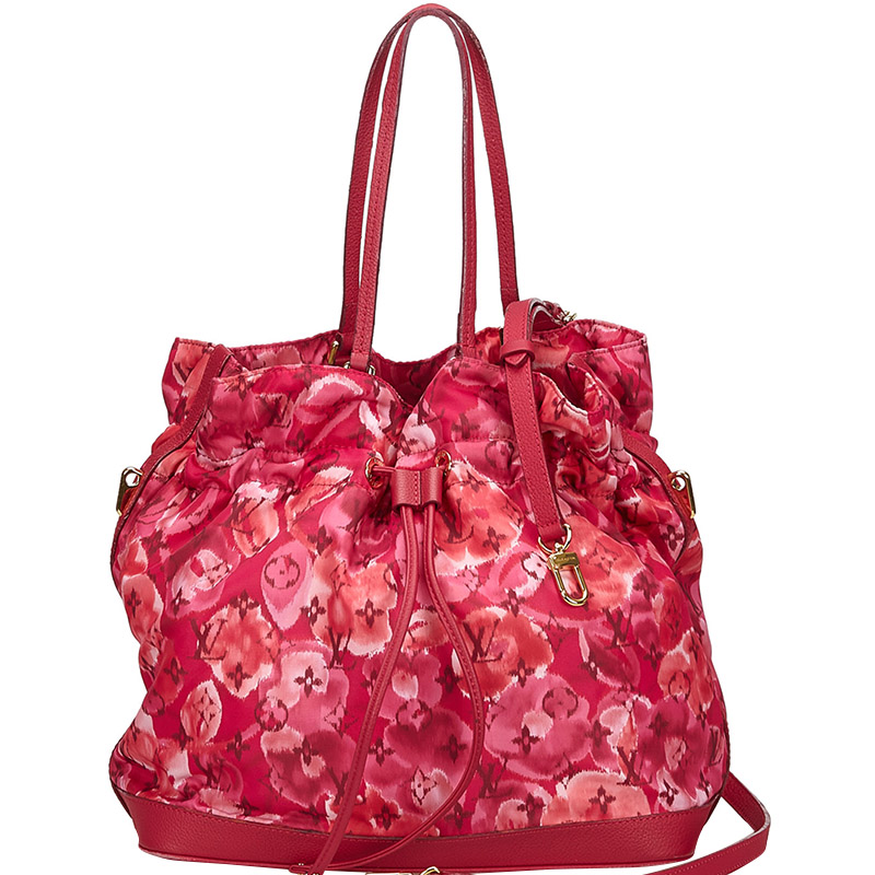 Louis Vuitton Indian Rose Monogram Ikat Floral Nylon Limited Edition Noefull Bag