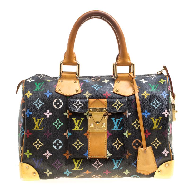 41eb4d682ef Buy Louis Vuitton Black Multicolor Monogram Canvas Speedy 30 161384 ...