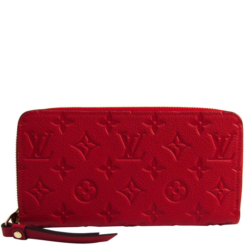 49fe6952ac79 ... Louis Vuitton Cherry Monogram Empreinte Leather Zippy Wallet. nextprev.  prevnext