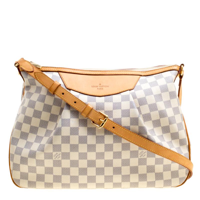 81fcecbf48e9 Buy Louis Vuitton Damier Azur Canvas Siracusa MM Bag 163051 at best ...