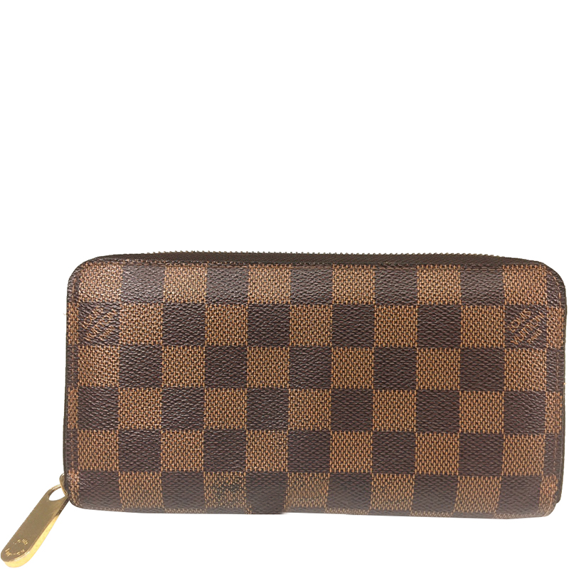 0e95f395c7 Louis Vuitton Damier Ebene Canvas Zipper Wallet
