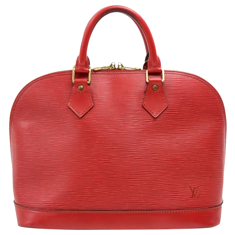 304dee2aa486 Buy Louis Vuitton Red Epi Leather Alma PM Bag 165225 at best price